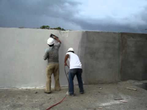 Aplicacion estuco pinturas del meta mpg youtube - Aplicacion de microcemento en paredes ...