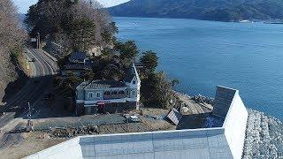 震災前は風光明媚な景観が自慢だった海辺の喫茶店「異人館」。いまは防...