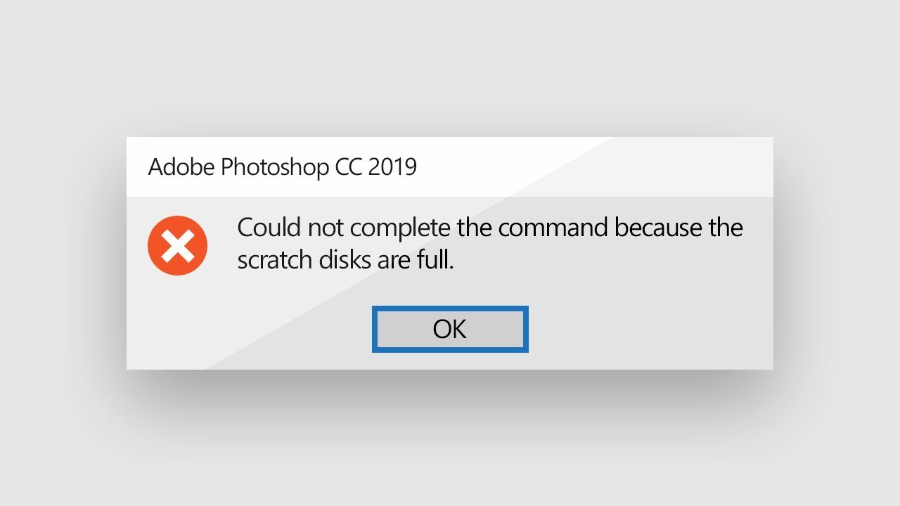 """""""Scratch Disks are Full""""? The Final Solution in Photoshop!"""