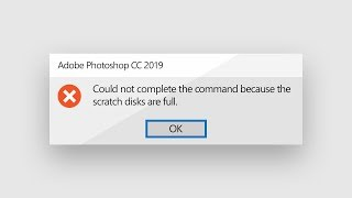Working Solution for photoshop batch error disk not available | Guide for Beginners