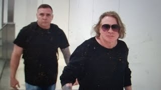 Axl rose bodyguard hands all over me and impersonating a police officer
