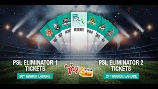 PSL 2018: Buy Eliminator 1 & 2 Round Tickets of PSL 3 - Yayvo.com