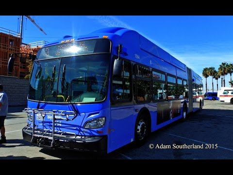 "Start Up: Santa Monica Big Blue Bus 2015 New Flyer Industries ""Xcelsior"" XN60 CNG 1564 on Route 3"