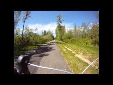 Time Lapse Road Biking - Centennial Trail, WA