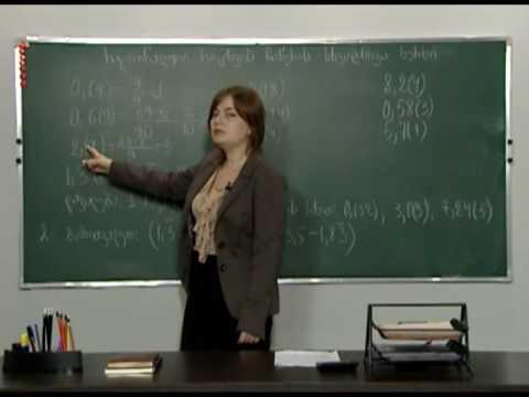 რაციონალური რიცხვების ჩაწერის სხვადასხვა ხერხი