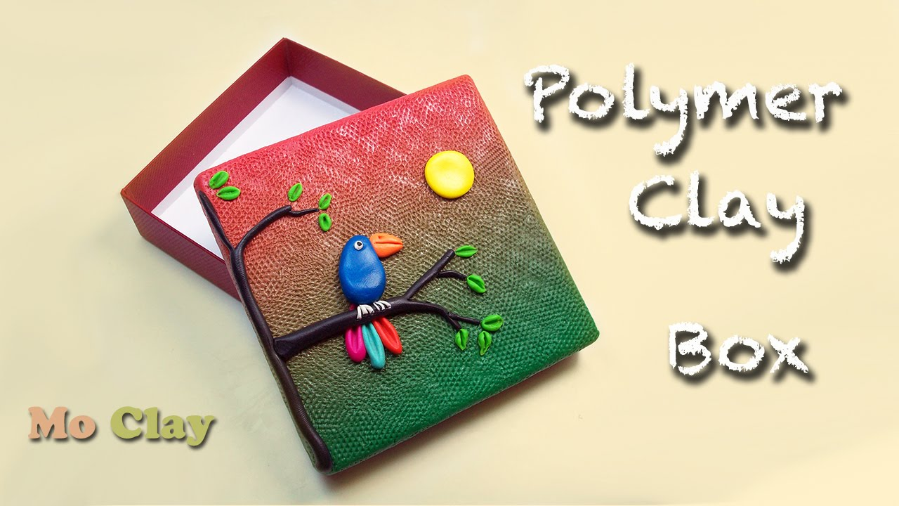 How To Decorate A Box Diy Polymer Clay Tutorial Youtube