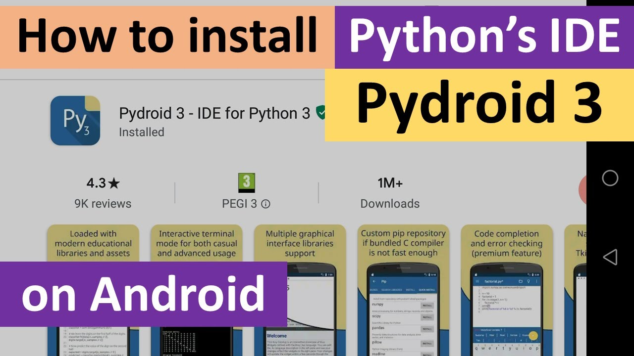 How to install Pydroid 3 on Android