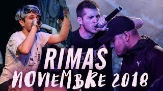 Las MEJORES RIMAS del MES de NOVIEMBRE 2018 - ¡INCREÍBLE! | Batallas de Gallos (Freestyle Rap)