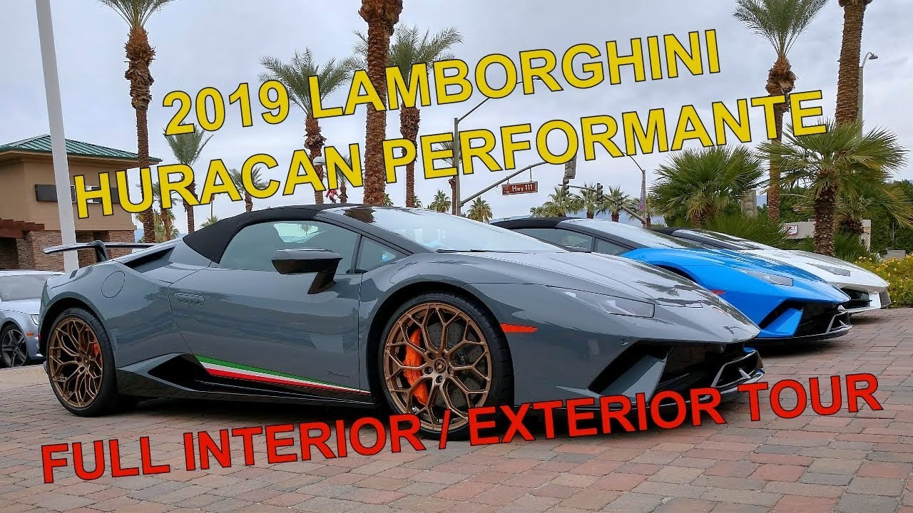 2019 Lamborghini Huracan Performante Detailed Interior Exterior