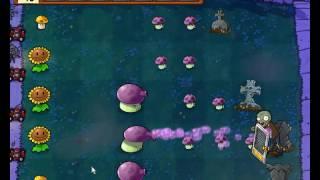Plants vs Zombies уровень 2-3