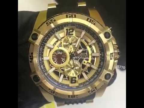 Relógio Invicta Marvel Homem Aranha 26770 Plaque Ouro