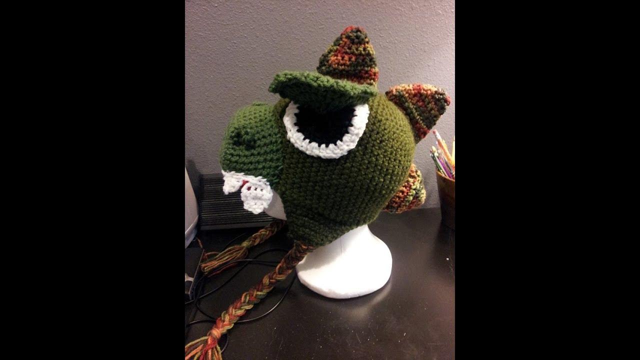 Tutorial How To Crochet A Dinosaur Godzilla Beanie Part 1 Youtube