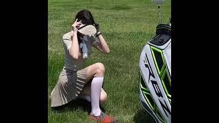 여성 여름 골프웨어 큐롯 스커트 플리츠 주름 테니스 골…