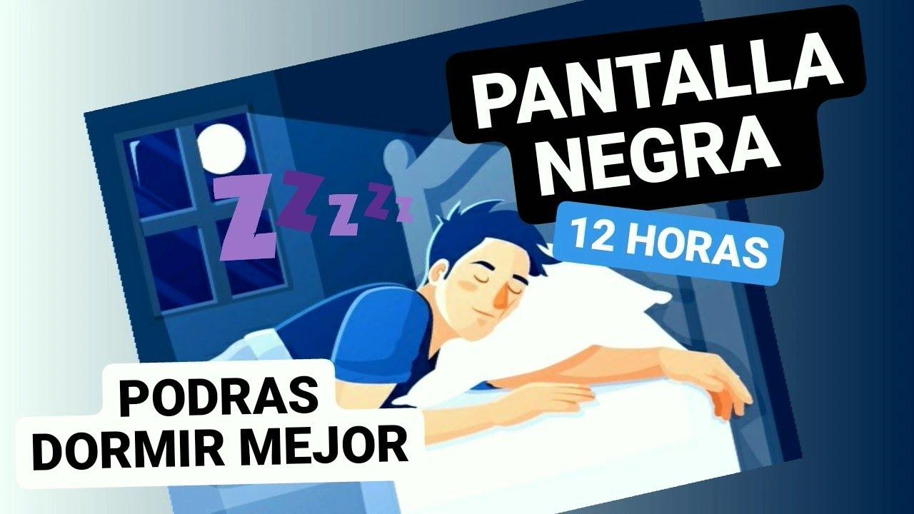 SONIDO RELAJANTE PARA DORMIR | 12 Horas LLUVIA relajante PARA DORMIR  | Pantalla Negra | EFECTIVO