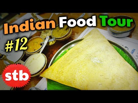 SPIRITUAL Dosa Vegetarian Food in Hyderabad // SOUTH INDIAN FOOD Tour #12
