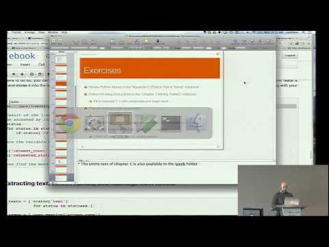 Matthew Russell: Mining Social Web APIs With IPython Notebook - PyCon 2014