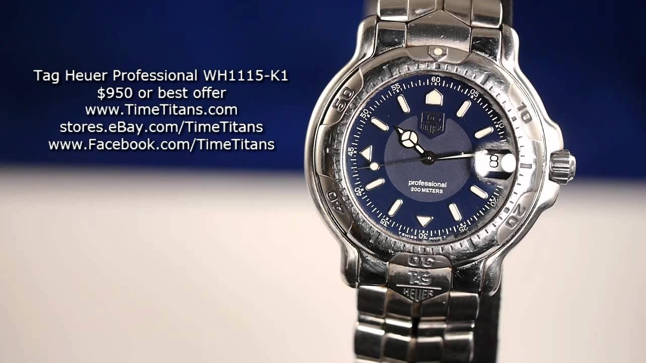TAG Heuer 6000 Professional Blue Quartz 200M WH1115-K1