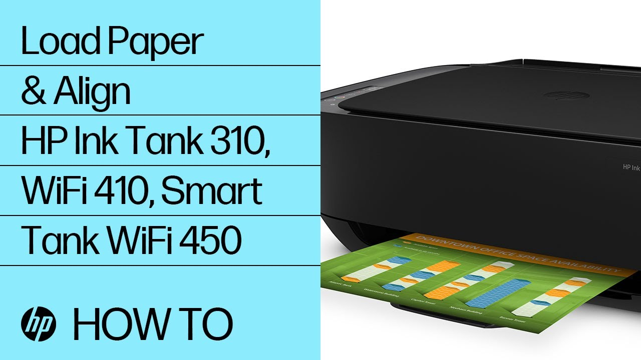 Download Load Paper, Print Alignment Page HP Ink Tank 310, Wireless 410 & Smart Tank Wireless 450 Series | HP