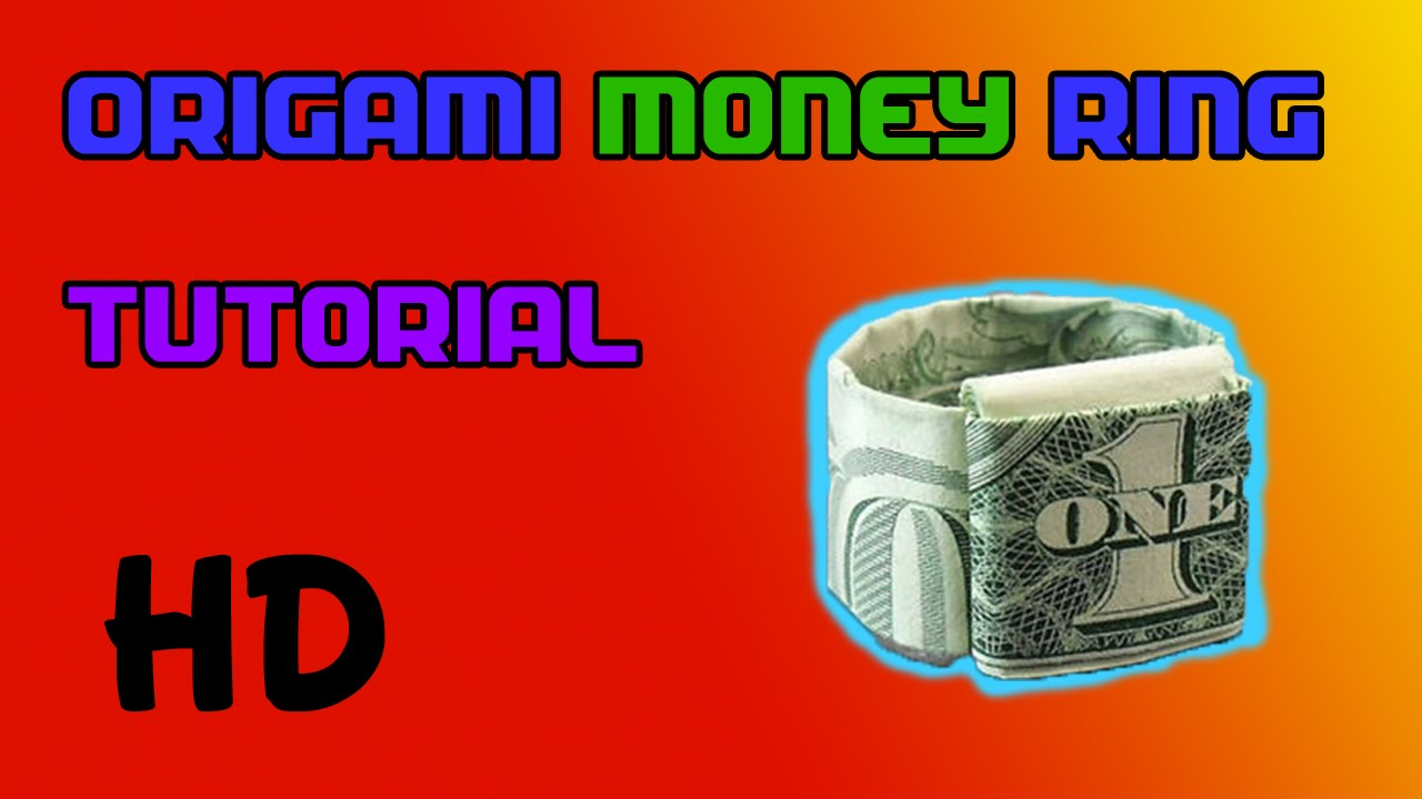 Origami dollar ring tutorial how to make an origami dollar ring.