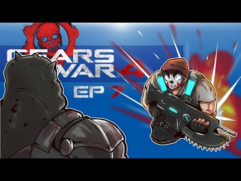 Gears of War 4 - BIG MONSTERS AND EPIC BOSS FIGHT! (Co-op Campaign With Cartoonz) EP. 7