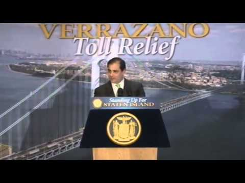 Governor Cuomo Announces Relief for Staten Island Toll Payers