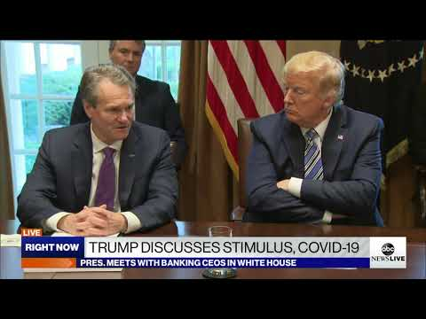 President Trump Meets With Banking CEOs In White House | ABC News