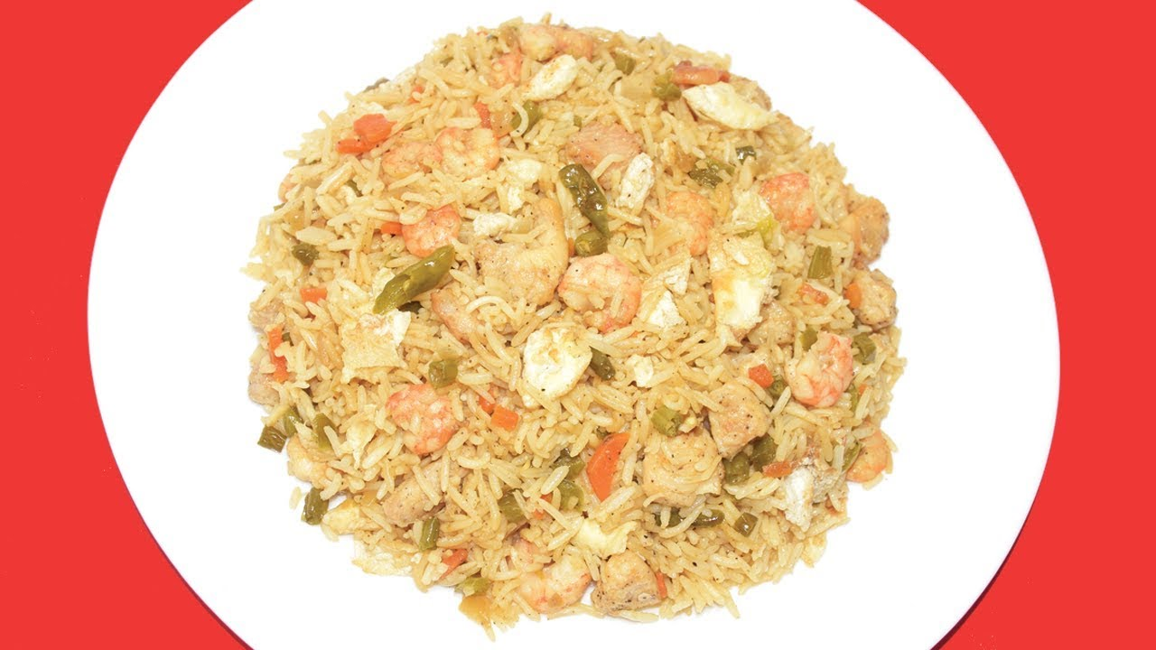 Mixed Fried Rice - Restaurant Style Chinese Chicken Fried ...