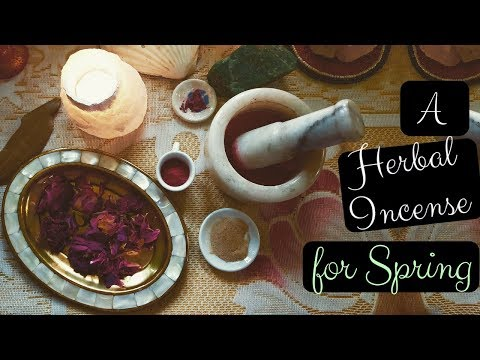 How To Make Herbal Incense ( Just 4 Ingredients) To Welcome Spring