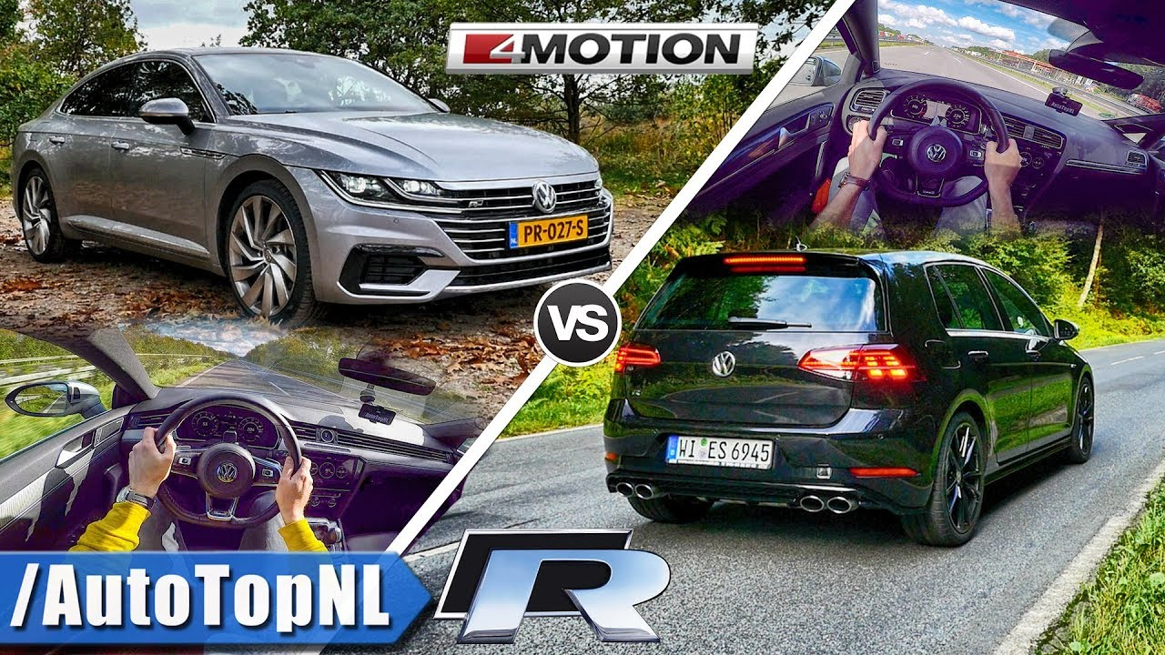 vw golf r 310hp vs 280hp vw arteon acceleration top speed autobahn pov by autotopnl youtube. Black Bedroom Furniture Sets. Home Design Ideas