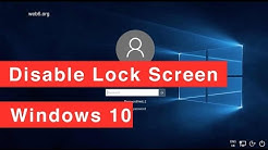 How to disable lock screen on Windows 10