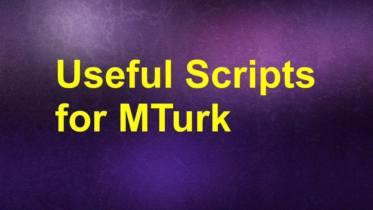 MTurk Installing Scripts - YouTube
