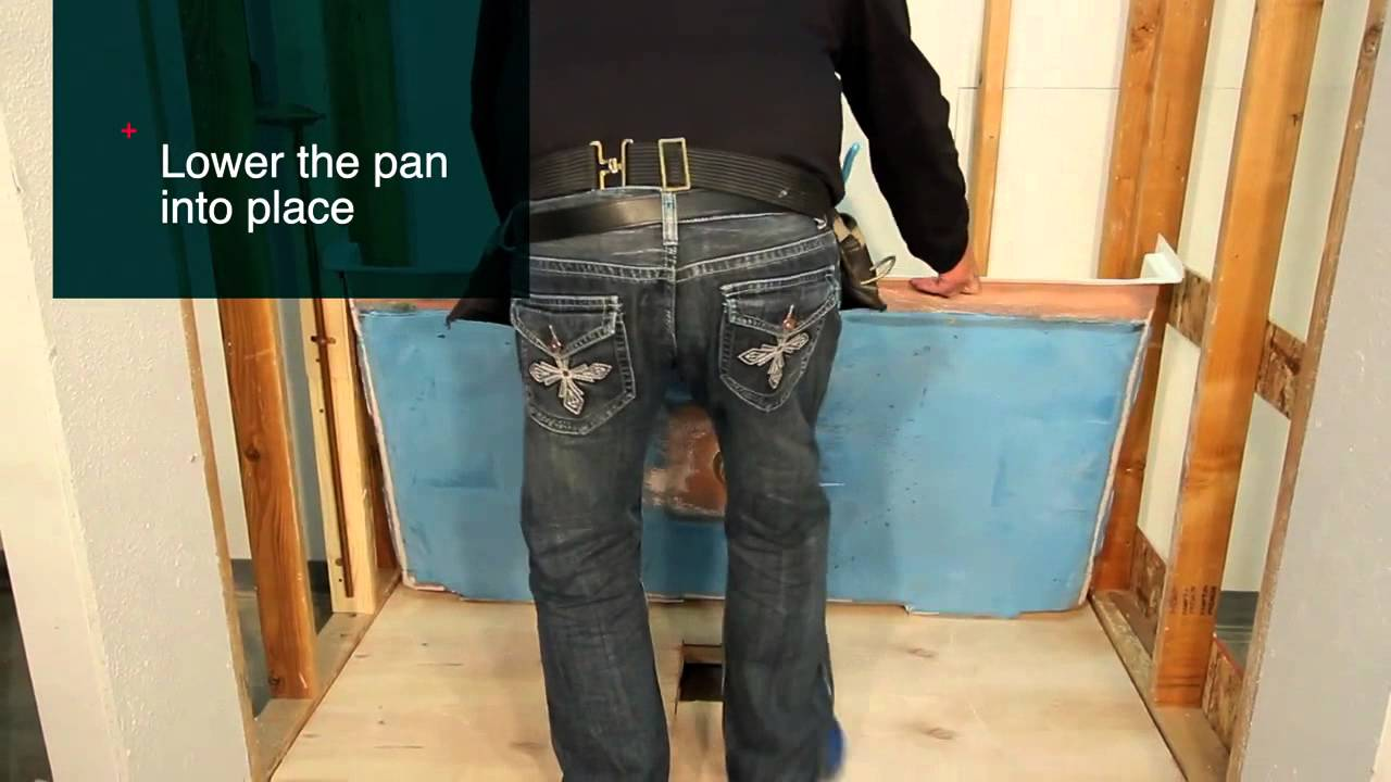 How To Install Barrier Free Shower Pan | Best Bath   YouTube