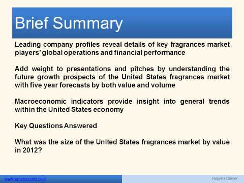 Fragrances in the United States - Reports Corner