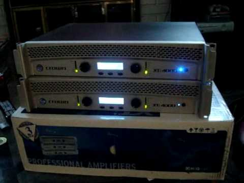2 Crown XTI 4000 Pro Audio amps! Something new in the works?