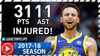 Stephen Curry Full Highlights vs Pelicans (2017.12.04) - 31 Pts, 11 Ast, INJURED!