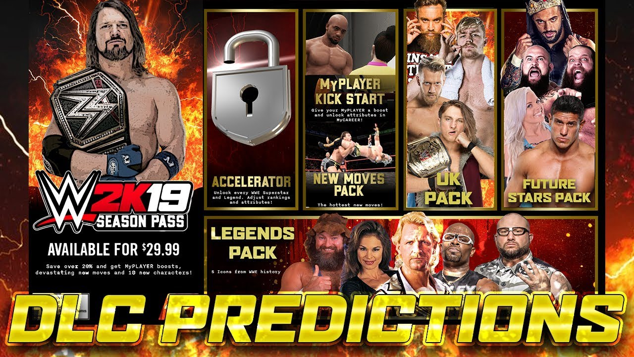 WWE 2K19: DLC Predictions!! Season Pass!!