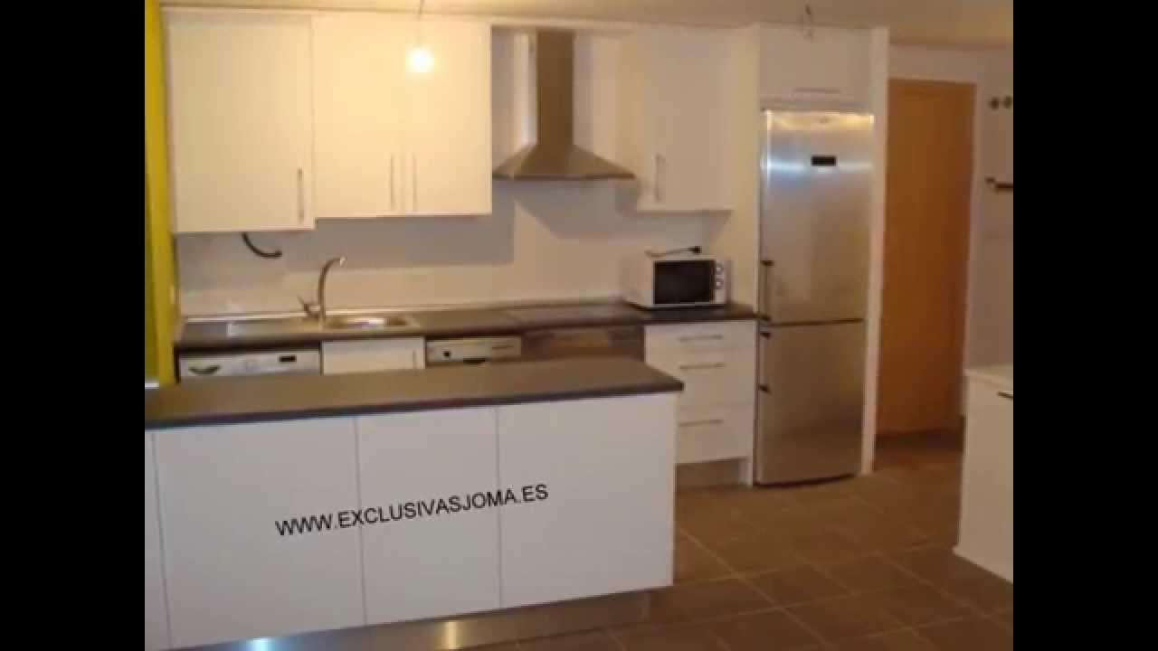 Muebles de cocina eco luxe en blanco y encimera pizarra - Encimera de pizarra ...