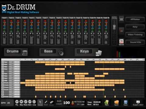make your own beats like a pro with dr drum beat maker software youtube. Black Bedroom Furniture Sets. Home Design Ideas