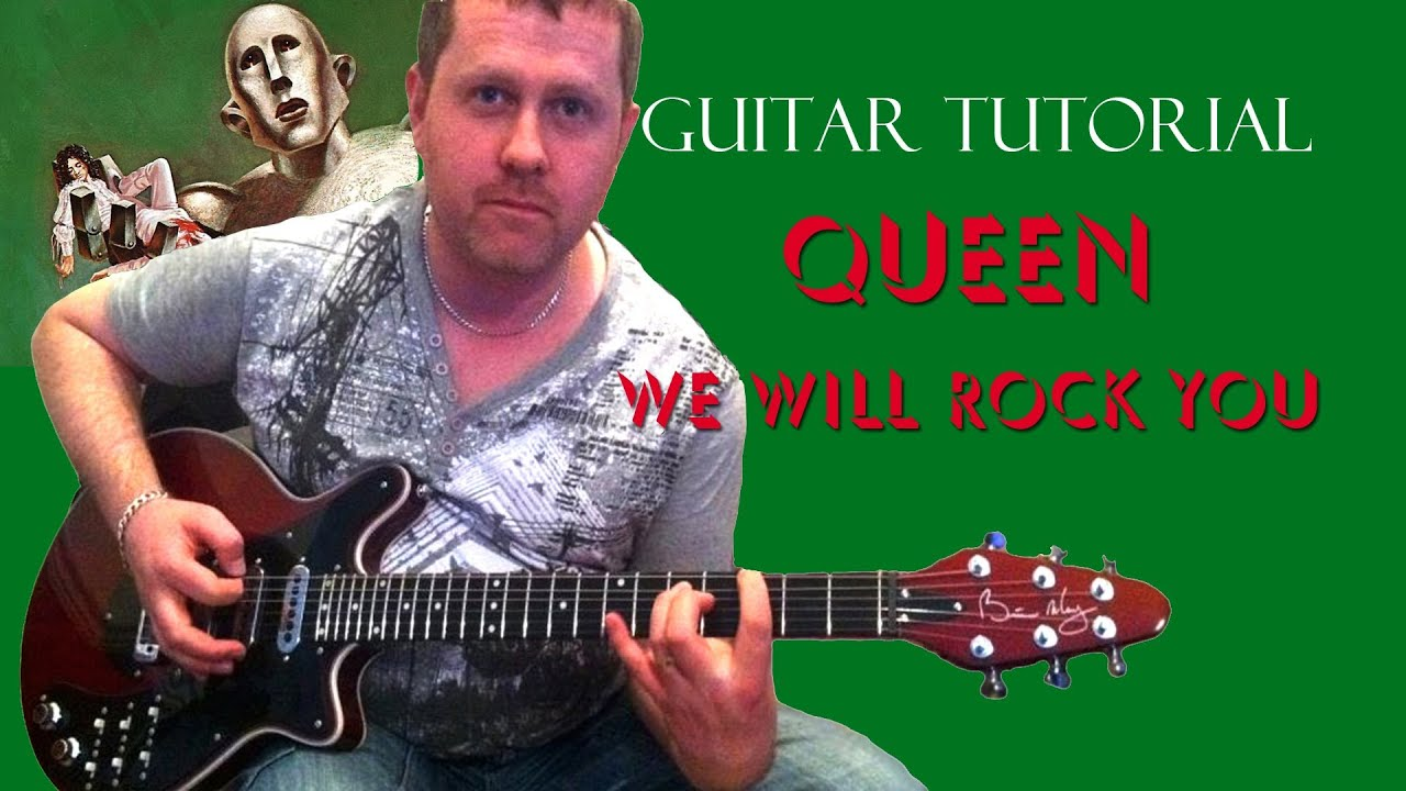 how to play we will rock u on guitar