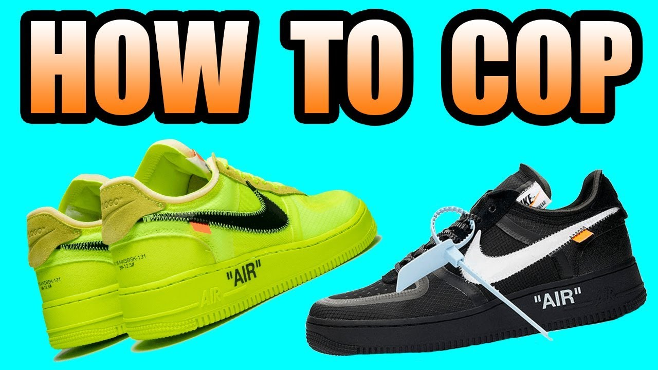 on sale 9973e 71b92 How To Get The OFF WHITE AIR FORCE 1  VOLT + BLACK Off White AF1 Release  Info