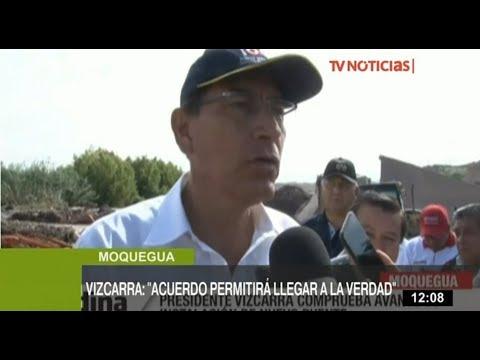 """Vizcarra: """"Acuerdo con Odebrecht nos permitirá llegar al fondo de la verdad"""""""