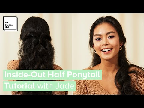 Inside-Out Half Ponytail | Twisted Half-Up Do Tutorial for Long Hair thumbnail
