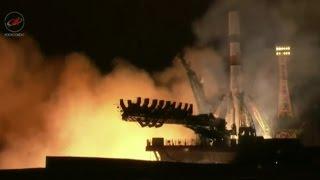 Progress MS-02 Cargo Craft lifts off on Soyuz 2-1A Rocket