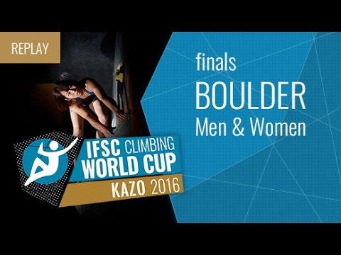 IFSC Climbing World Cup Kazo 2016 - Bouldering - Finals - Men/Women