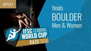 IFSC Climbing World Cup Kazo 2016 - Bouldering - Finals - Men/Women
