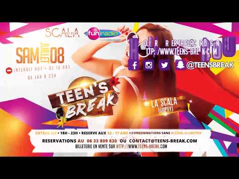 Teen's break à la Scala de Guipry (35) avec Fun radio : 08 juillet 2017