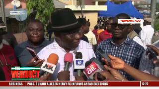 Fmr President, Goodluck Jonathan Casts His Vote In Bayelsa
