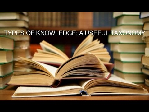 TYPES OF KNOWLEDGE: A USEFUL TAXONOMY