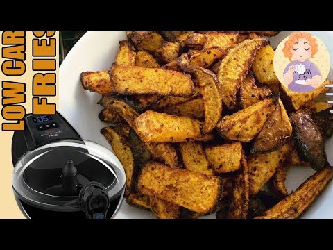 keto-fries-in-the-air-fryer---low-carb-potato-wedges-chips-cajun-style-+-tefal-actifry-review
