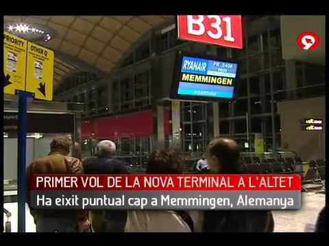 Aeropuerto de Alicante - Primer vuelo de la Nueva Terminal